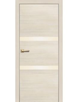 Межкомнатная Дверь 2002 AL кромка ясень латте, дуб мокко
