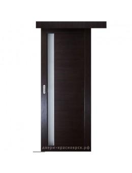 Дверь раздвижная Пиано цвет венге