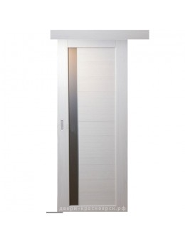 Дверь раздвижная Пиано цвет дуб молочный