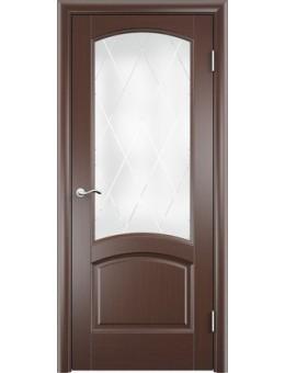 Межкомнатная дверь  Криста Лайт тонированный черный дуб