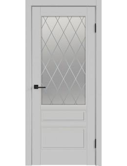 Межкомнатная дверь  Сканди  3в светло серый
