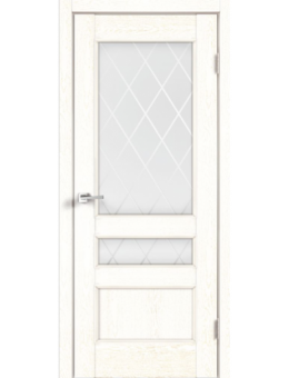 Дверь Velldoris CLASSICO 3V Белый ясень, Ромб светлый