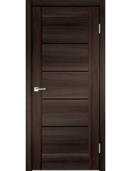 Дверь Velldoris PREMIER 1, Орех каштан, Лакобель черный