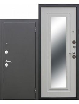 Входная дверь Царское зеркало (муар, белый ясень)