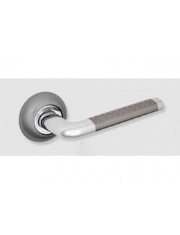 Ручка ЦАМ 47HHP, белый никель с перфорацией