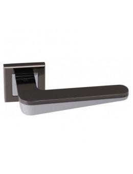 Дверная ручка ADDEN BAU ESPADA Q321 на квадратной розетке LACK NICKEL / CHROME черный никель / хром