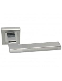 Дверная ручка ADDEN BAU PIANA Q307 на квадратной розетке SATIN CHROME хром