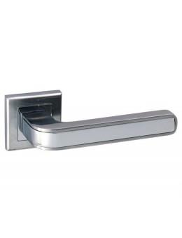 Дверная ручка ADDEN BAU PIEZA Q360 на квадратной розетке SATIN CHROME хром