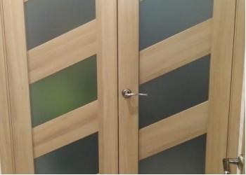 Двустворчатая дверь La Stella 216 Дуб сантьяго