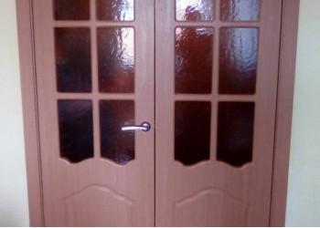 Двустворчатая дверь ПВХ Классика ПО