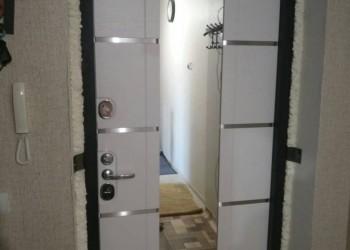 Стальная дверь Алмаз Кассиопея Дуб кантри с зеркалом (внутренняя панель)