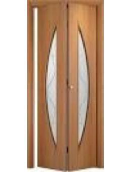 Дверь книжка Луна ДОФ миланский орех, итальянский орех