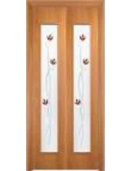 Дверь книжка Тюльпан ДОФ миланский орех, итальянский орех