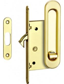 Ручка для откатных дверей с замком (золото)