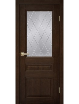 Межкомнатная дверь  модель с-12 темный дуб