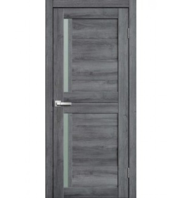 Межкомнатная дверь  Fly Doors L22 (дуб стоунвуд, стекло)
