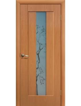 Дверь ПВХ Японская вишня ПО Миланский орех