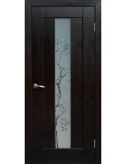 Дверь ПВХ Японская вишня ПО Венге