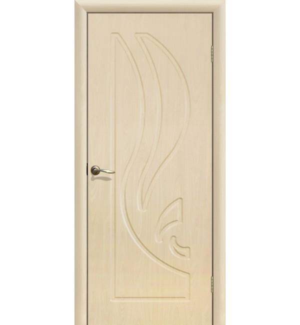 Дверь ПВХ Лилия ПГ Беленый дуб