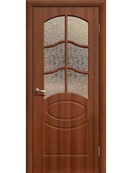 Дверь ПВХ Неаполь ПО итальянский орех