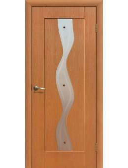 Дверь ПВХ Водопад ПО миланский орех