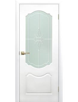 Межкомнатная дверь Симфония остекленная белая