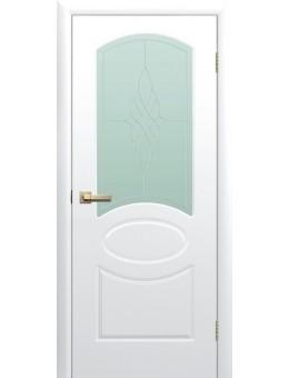 Межкомнатная дверь Соната остекленная белая