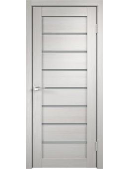 Межкомнатная дверь  Уника 1 стекло мателюкс , цвет белый