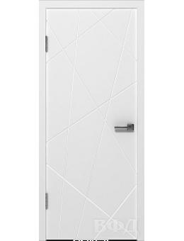 Межкомнатная дверь Авангард глухая белая
