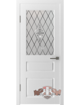 Межкомнатная дверь Честер остекленная белая