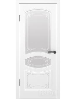 Межкомнатная дверь Версаль остекленная белая