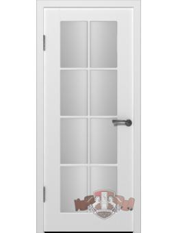 Межкомнатная дверь Порта остекленная белая