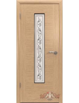 Межкомнатная дверь Рондо остекленная светлый дуб