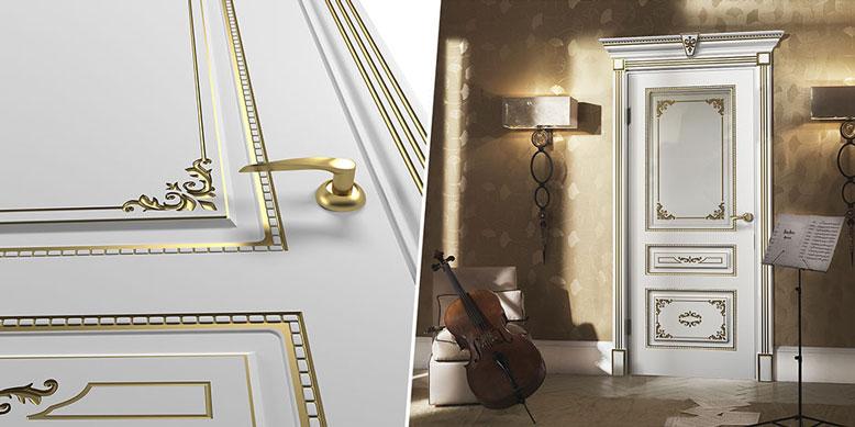 Двери Холл с белым эмалированным покрытием