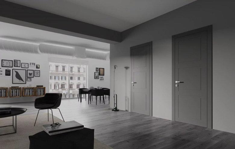 Серые финские двери в интерьере